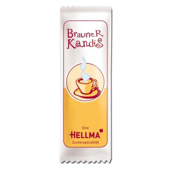 Hellma Brauner Kandis, Zucker, 1000 x 6 g