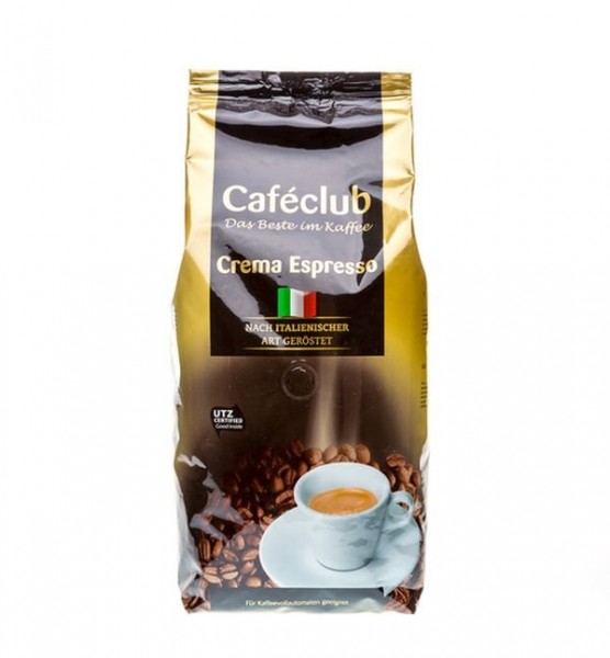 Caféclub Kaffeebohnen Crema Espresso 1000g