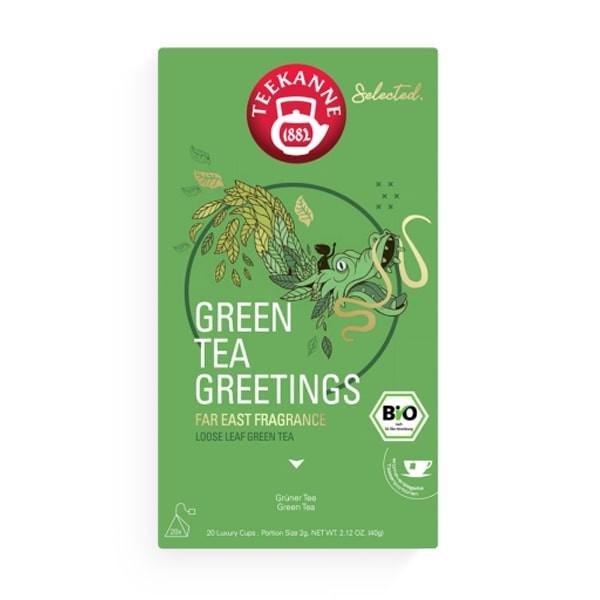 Teekanne Selected Green Tea Greetings Luxury Cup - 20 x 2 g
