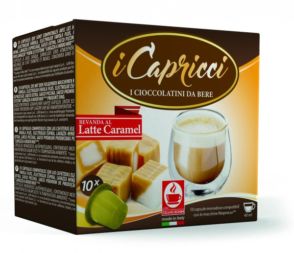 Bonini iCapricci Latte Caramel / Karamell - 10 Nespresso ®* kompatible Kapseln