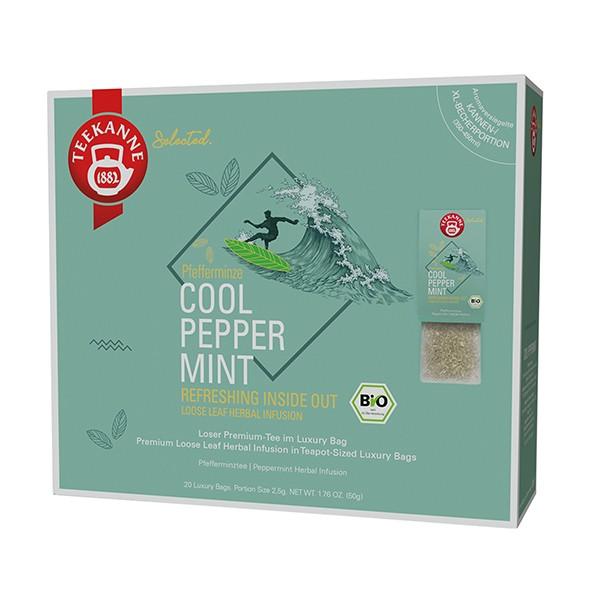 Teekanne Selected Cool Peppermint Luxury Bag - 20 Kannenportionen à 2,5 g