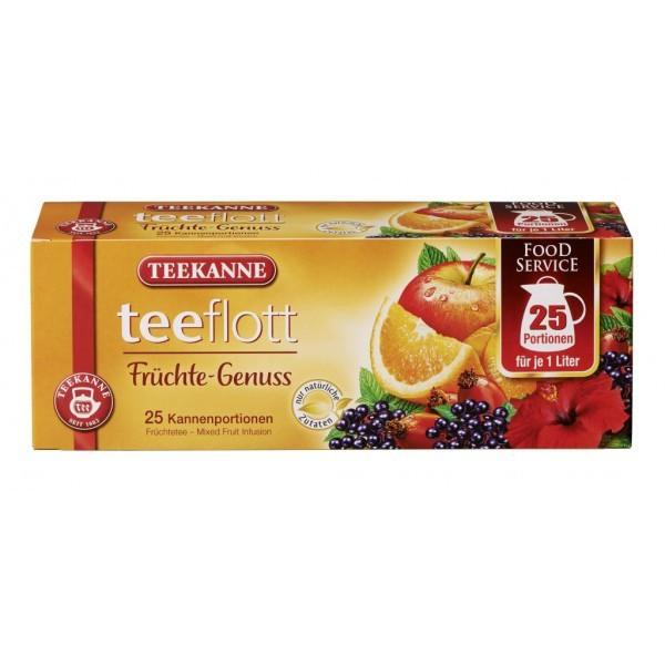 Teekanne Teeflott Früchte Kannenbeutel 25 Stück