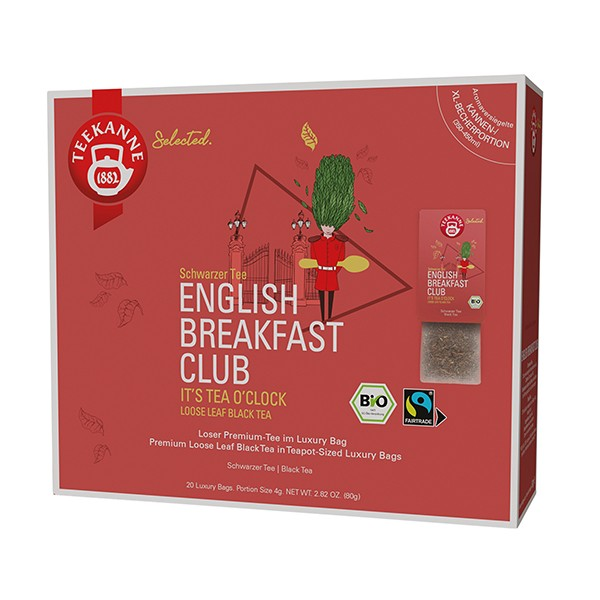 Teekanne Selected English Breakfast Club Luxury Bag - 20 Kannenportionen à 4 g