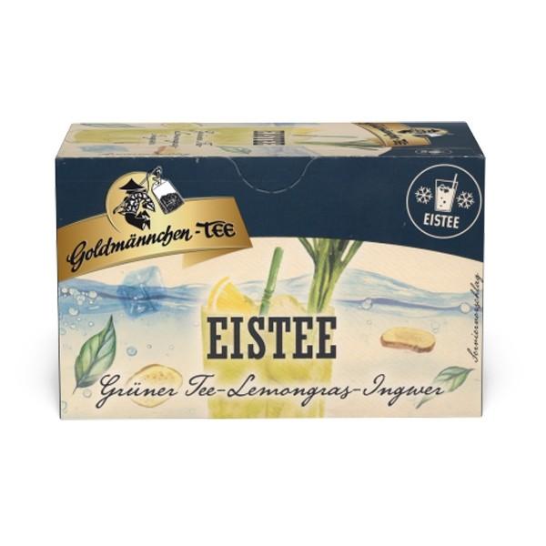 Goldmännchen Tee EISTEE Grüner Tee Lemongras-Ingwer - 20 Tassenbeutel
