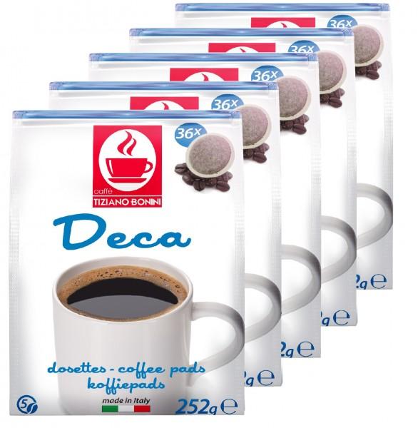 Caffè Bonini Kaffeepads Deca 5 x 36er / 180 Pads