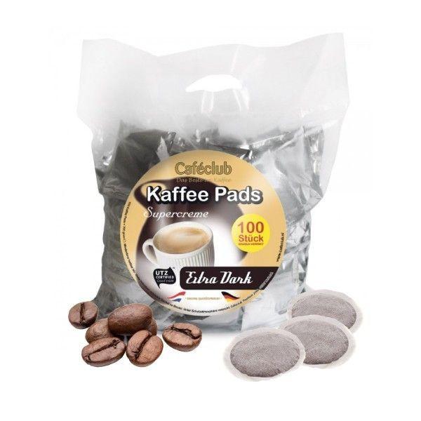 Caféclub Kaffeepads EXTRA DARK ROAST 100 Pads im Megabeutel