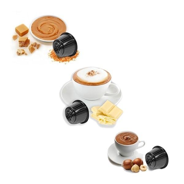 Caffè Bonini Weiße Schokolade - Latte Mou / Karamell - Haselnuss / Nocciolino - je 25 Kapseln