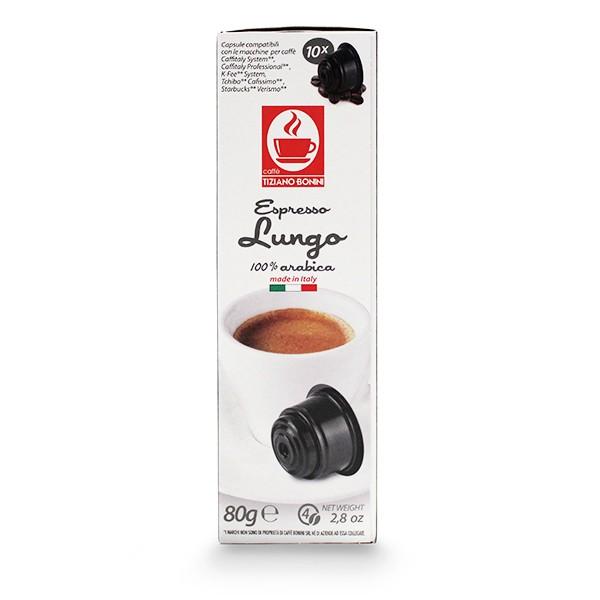 Caffè Bonini LUNGO Kompatible Kapseln Caffitaly ®* K-Fee ®* Tchibo ®*