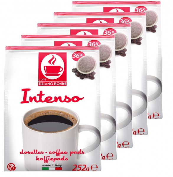 Caffè Bonini Kaffeepads Intenso 5 x 36er / 180 Pads