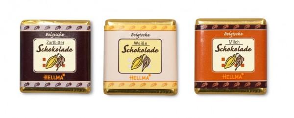 Hellma - Belgische Schokoladentäfelchen 165 Stück x 4,5 g