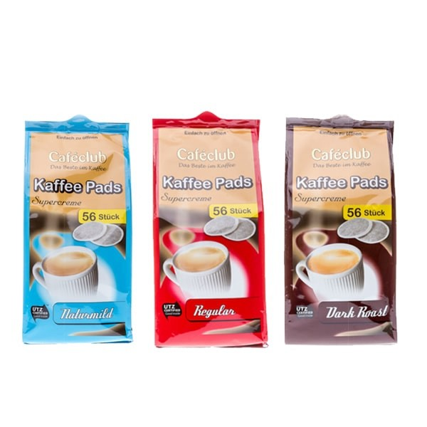 Caféclub Kaffeepads Supercreme - 168 Pads Set (Senseo kompatibel)