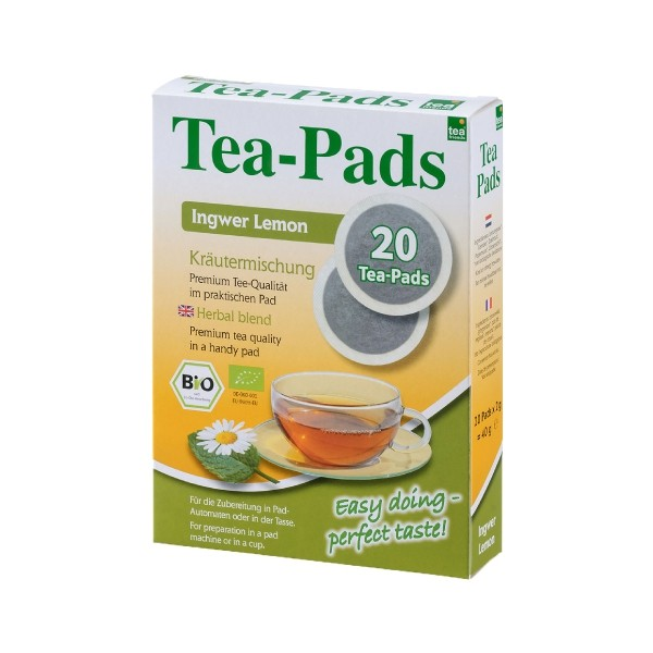 Teepads Tea-Friends BIO Ingwer Lemon