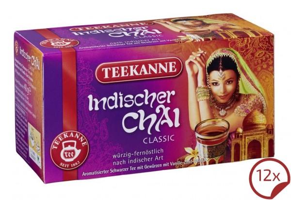 Teekanne Indischer Chai 12 x 20 Beutel