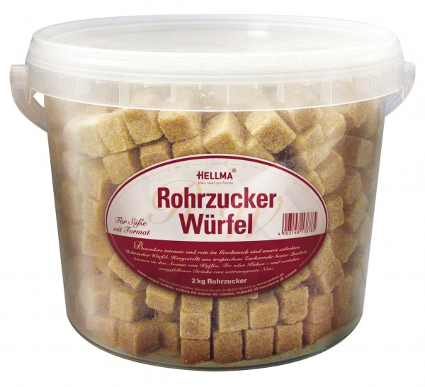 Hellma Rohrzucker-Würfel im Eimer à 2 kg