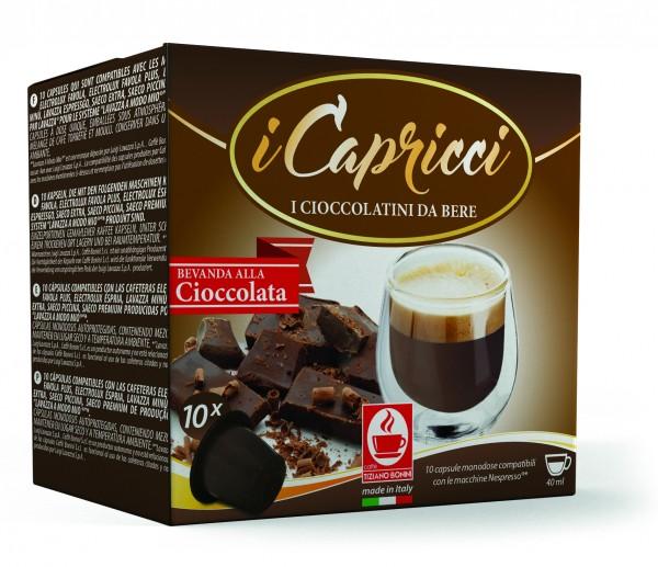 Bonini iCapricci Cioccolato / Kakao - 10 Nespresso ®*-Kapseln