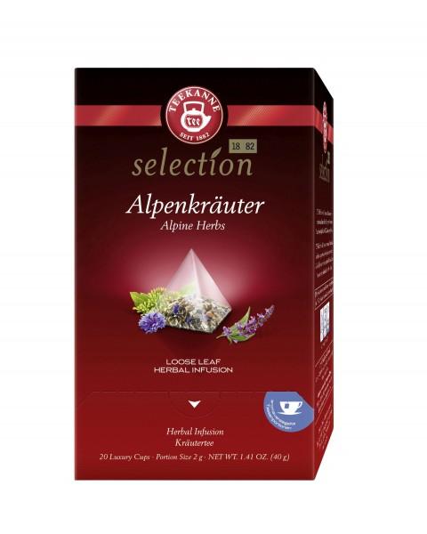 Teekanne Luxury Cup Alpenkräuter 20 Pyramidenbeutel ++