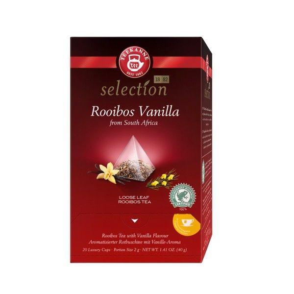Teekanne Luxury Cup Rooibos Vanilla 20 Pyramidenbeutel