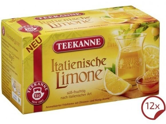 Teekanne Italienische Limone 12 x 20 Beutel
