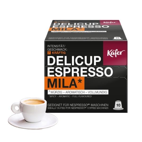 Käfer Delicup Mila Kompatible Kapseln Nespresso ®* - MHD überschritten (15.05.2019)!!