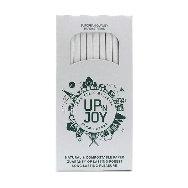 Up'n Joy PAPIERHALME weiß - 250 Stück - 6 mm x 195 mm
