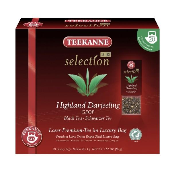 Teekanne Selection Highland Darjeeling GFOP 20 Kannenportionen **