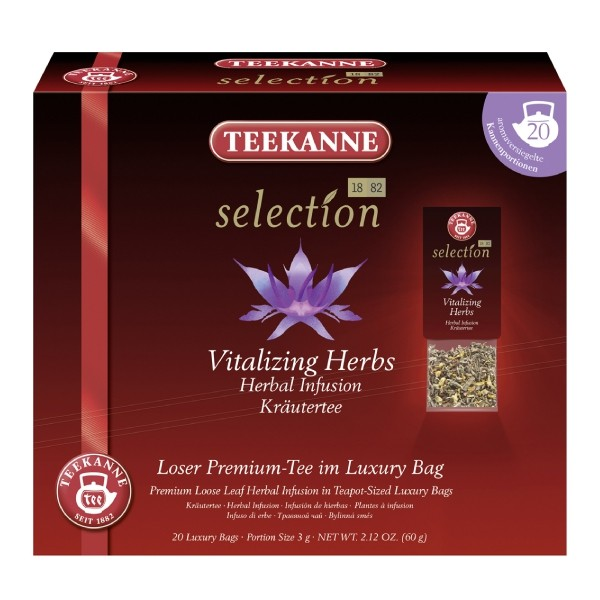 Teekanne Selection Vitalizing Herbs 20 Kannenportionen