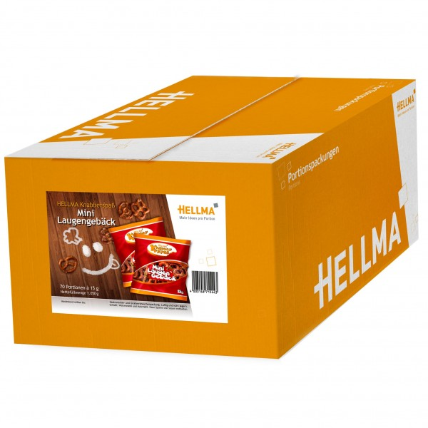 Hellma Knabberspaß Mini-Laugengebäck 70 x 15 g