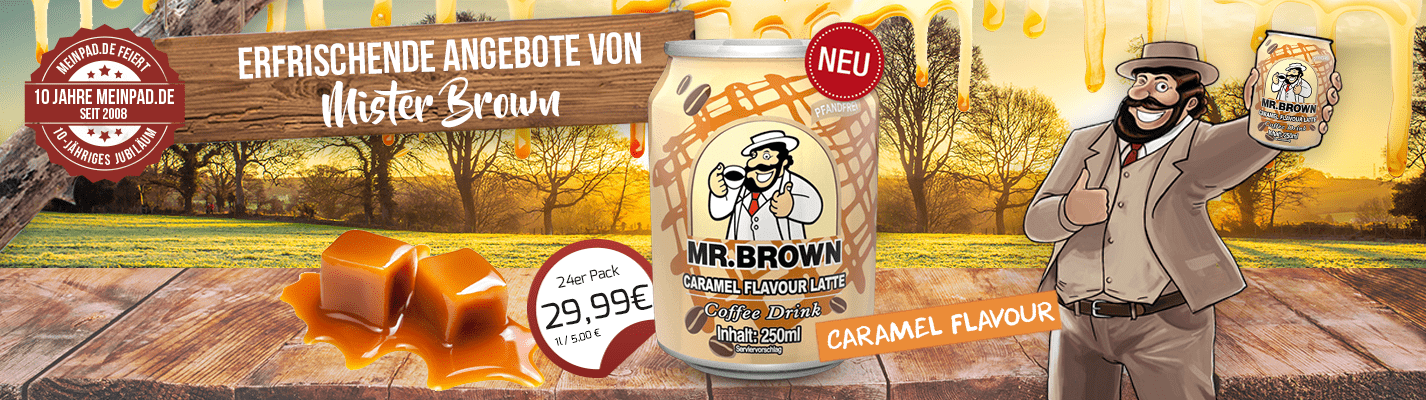 Mr. Brown Caramel Flavour Latte Coffee-Drink 24er Pac