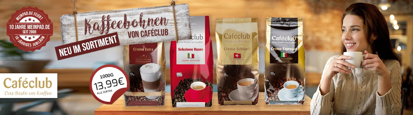 Caféclub Kaffeebohnen