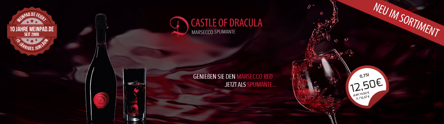 Marsecco Red Castle of Dracula Spumante