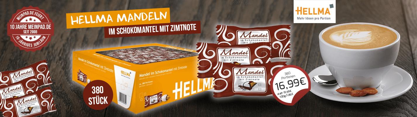 Hellma Mandel mit Zimtnote ca. 380 St. MHD