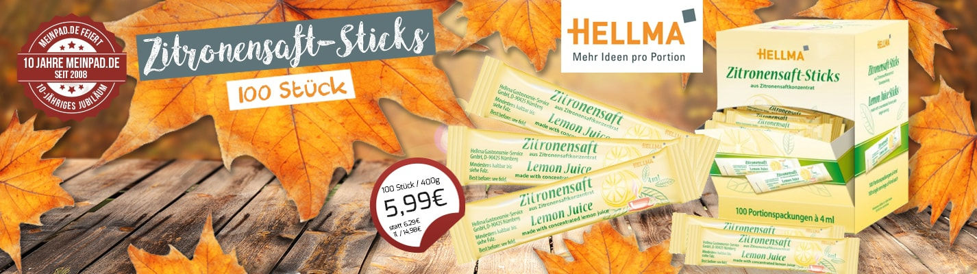 Hellma Zitronensaftsticks 100 x 4 g