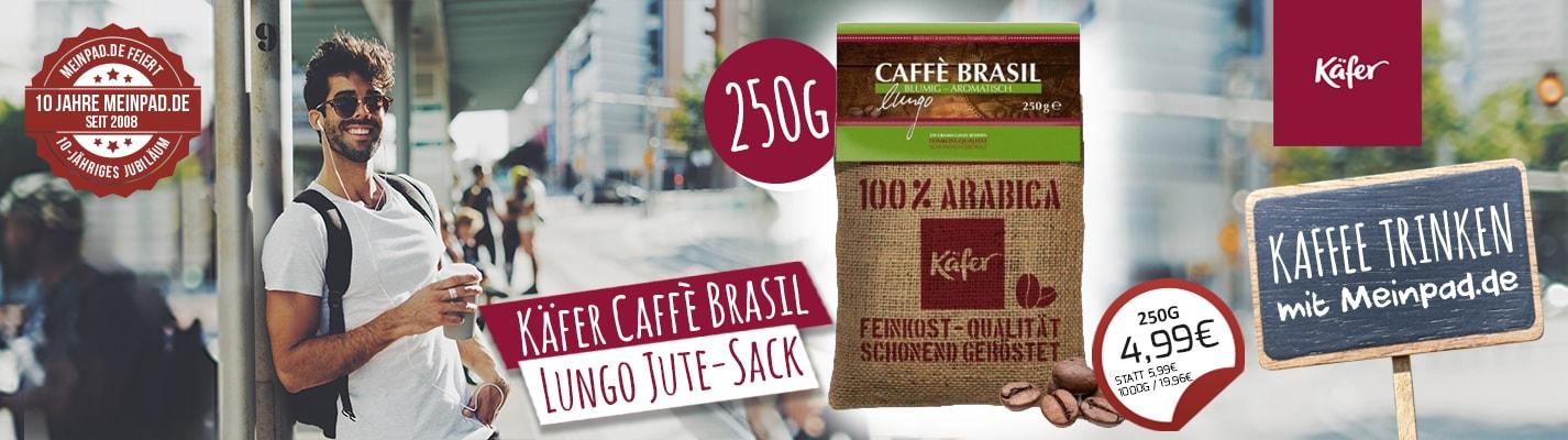 Käfer Caffè Brasil Lungo Jute-Sack 250g