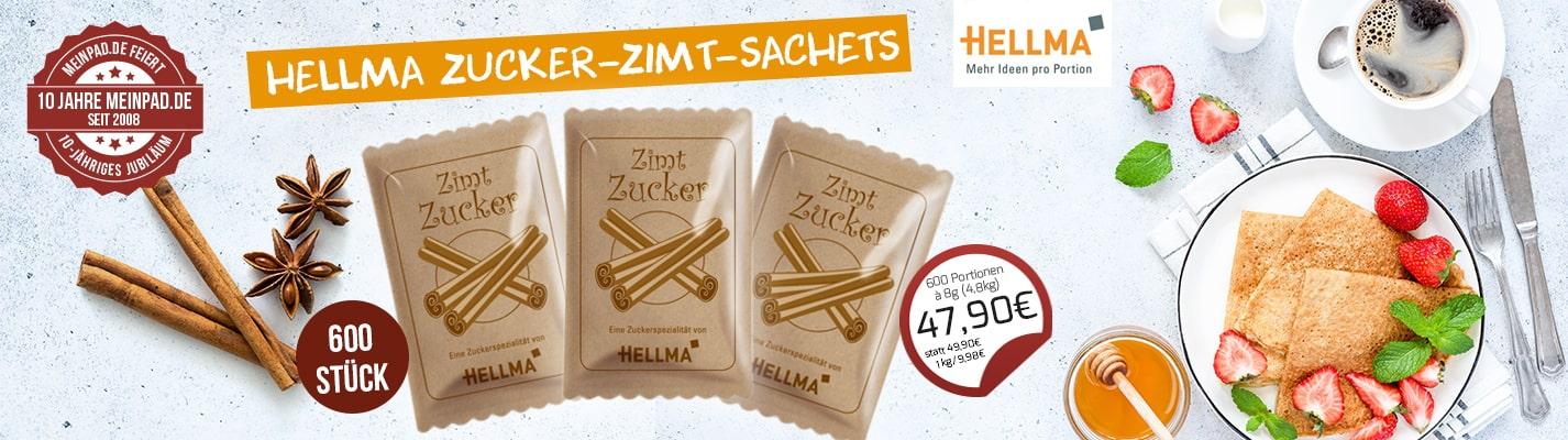 Hellma Zucker-Zimt-Mischung - Sachets, 600 x 8 g