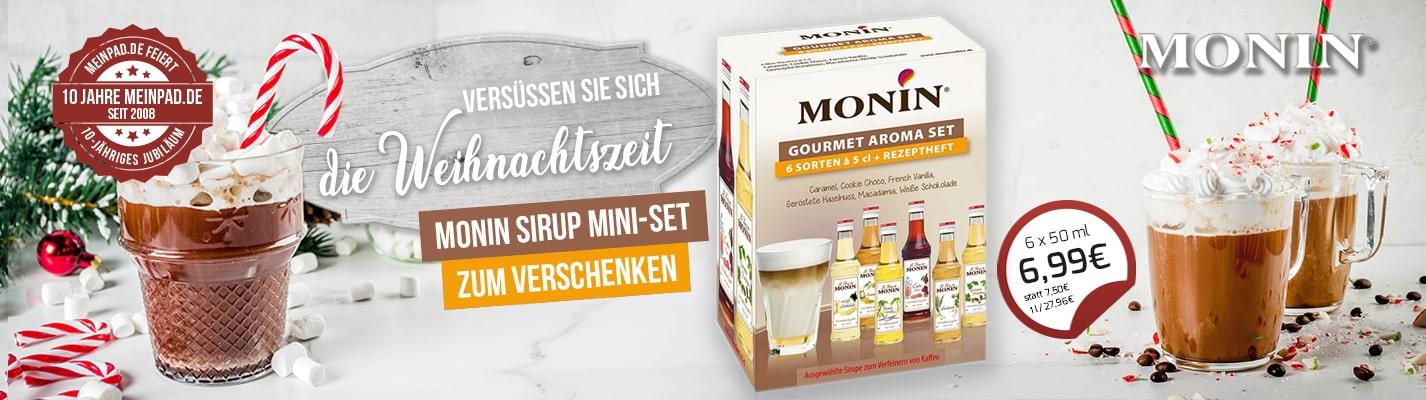 Monin Sirup Mini-Set zum Verfeinern von Kaffee et cetera - 6 x 50 ml