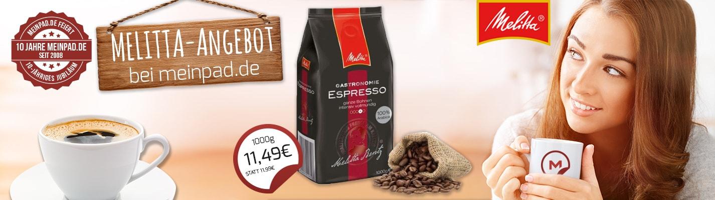 Melitta ® Gastronomie Espresso - ganze Bohne 1000 g