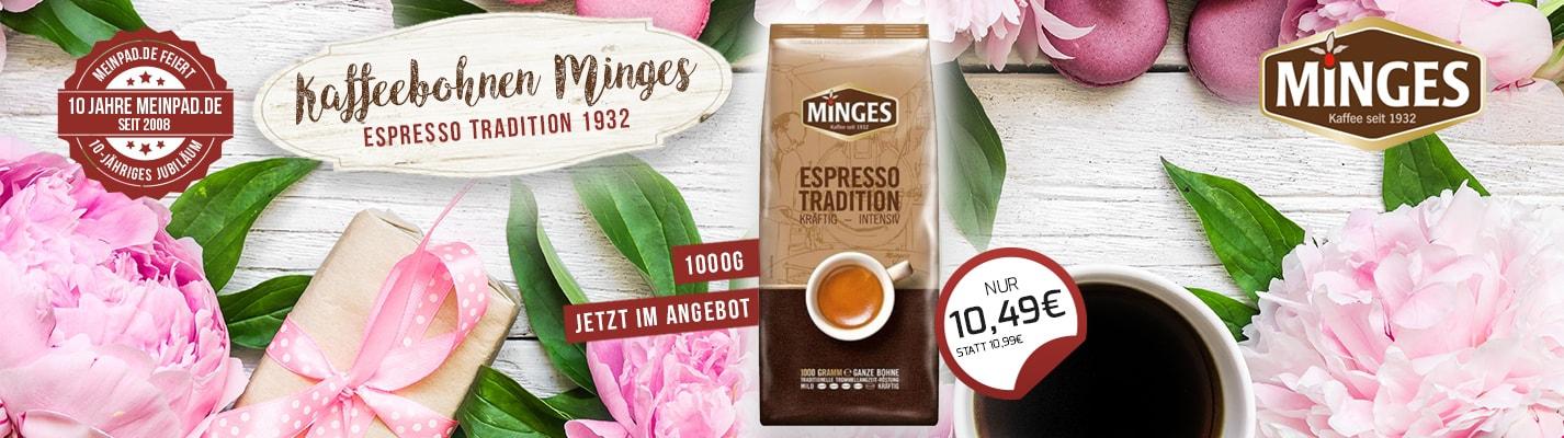 Kaffeebohnen Minges Espresso Tradition 1932