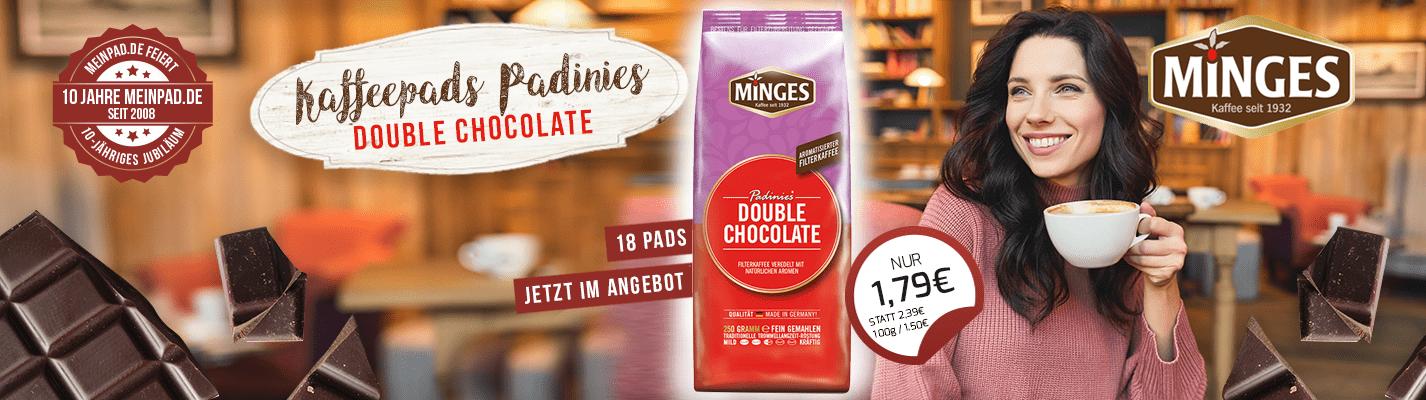 Kaffeepads Padinies Double Chocolate MHD