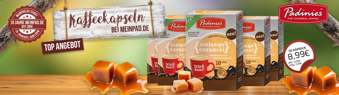 Padinies Großpackung Melange Caramel 50 Kompatible Kapseln Nespresso ®