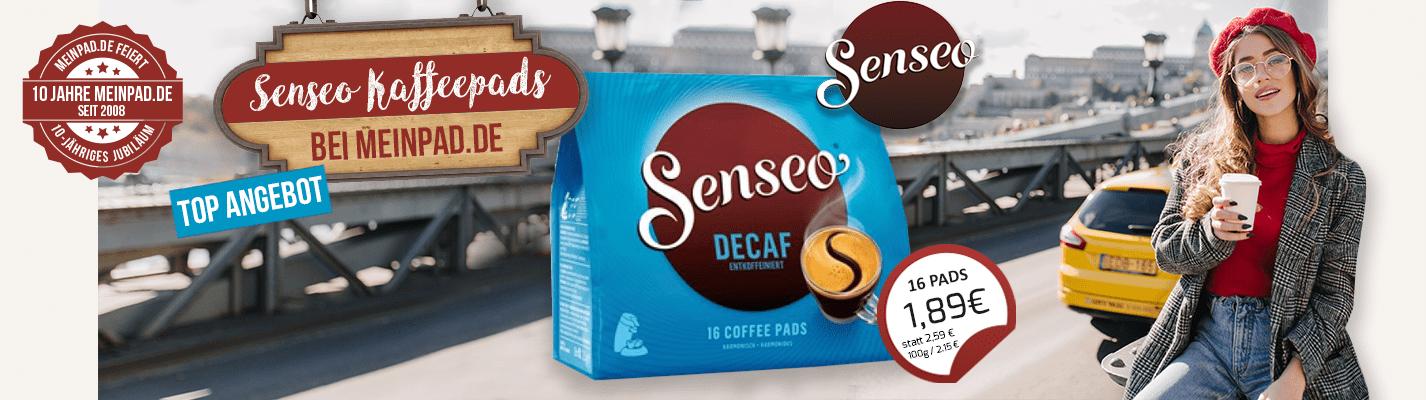 Kaffeepads Senseo® Entkoffeiniert MHD