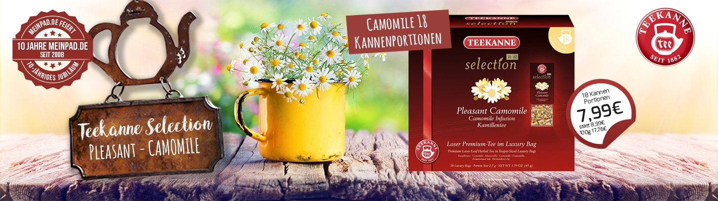 Teekanne Selection Pleasant Camomile 18 Kannenportionen