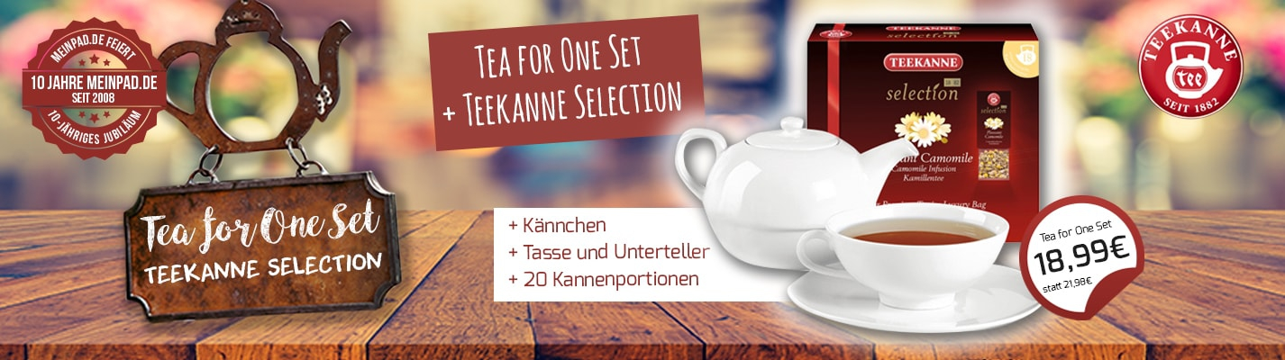 "Teekanne ""Tea for One"" Set + Teekanne Selection"