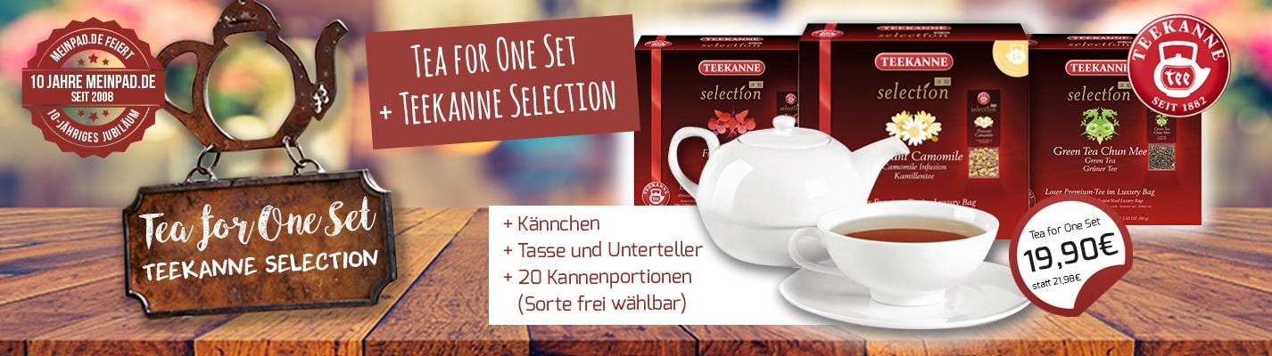 """Teekanne """"Tea for One"""" Set + Teekanne Selection nach Wahl"""